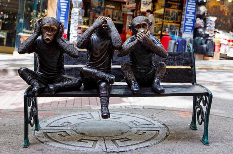 3 macacos sábios são francisco eua