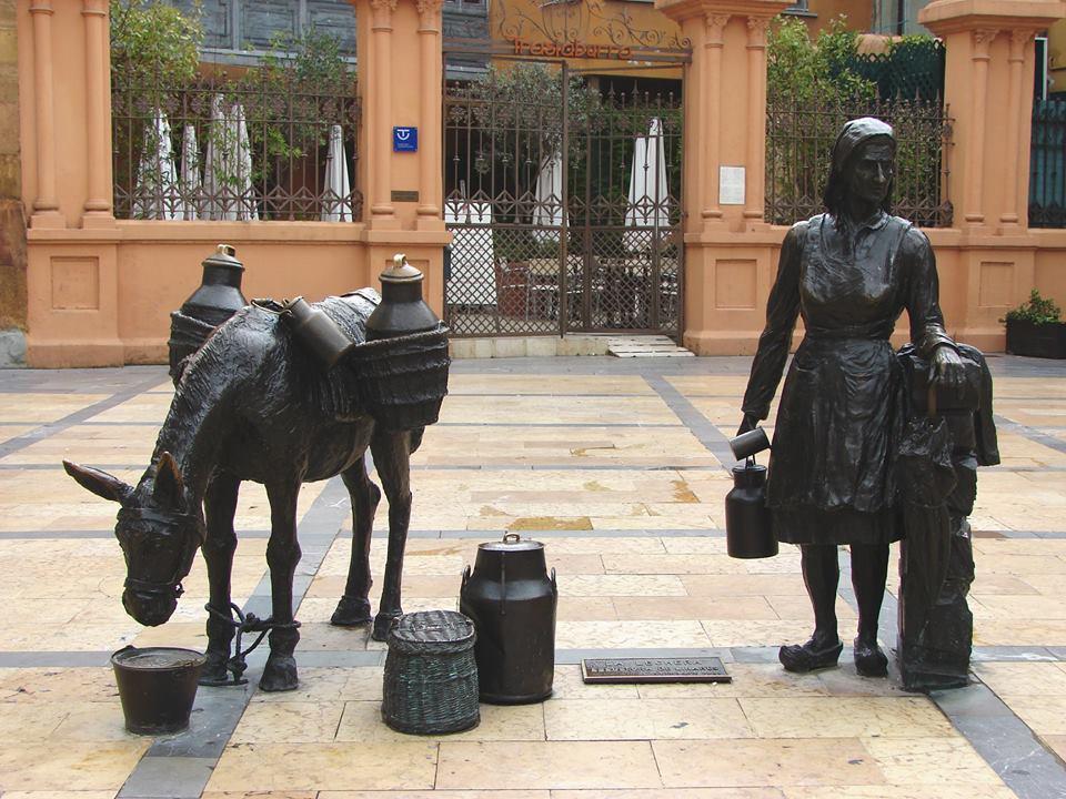 a leiteira - estátuas públicas espanha