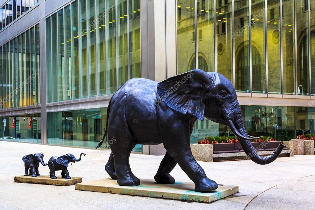 Elefantes em Toronto, Canadá.