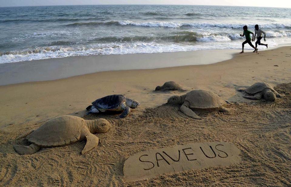 esculturas de areia Odisha Índia