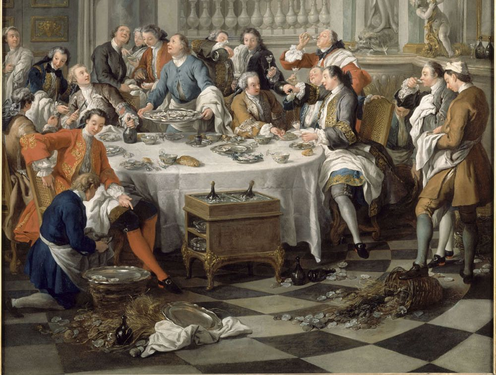 almoço das ostras Jean-François_de_-_Die_Austernmahlzeit_-_1734